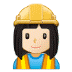 👷🏻‍♀️ woman construction worker: light skin tone Emoji on Samsung Platform