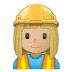 👷🏼♀️ woman construction worker: medium-light skin tone Emoji on Samsung Platform