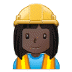 👷🏿‍♀️ woman construction worker: dark skin tone Emoji on Samsung Platform