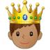 🤴🏽 prince: medium skin tone Emoji on Samsung Platform
