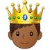 🤴🏾 prince: medium-dark skin tone Emoji on Samsung Platform