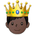 🤴🏿 prince: dark skin tone Emoji on Samsung Platform