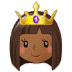 👸🏾 princess: medium-dark skin tone Emoji on Samsung Platform