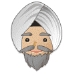 👳🏼 person wearing turban: medium-light skin tone Emoji on Samsung Platform