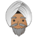 👳🏽 person wearing turban: medium skin tone Emoji on Samsung Platform