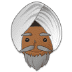 👳🏾 person wearing turban: medium-dark skin tone Emoji on Samsung Platform