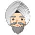 👳🏻‍♂️ man wearing turban: light skin tone Emoji on Samsung Platform