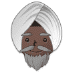 👳🏿‍♂️ man wearing turban: dark skin tone Emoji on Samsung Platform