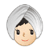 👳🏻‍♀️ woman wearing turban: light skin tone Emoji on Samsung Platform