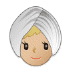 👳🏼♀️ woman wearing turban: medium-light skin tone Emoji on Samsung Platform