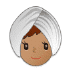 👳🏽‍♀️ woman wearing turban: medium skin tone Emoji on Samsung Platform