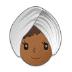 👳🏾♀️ woman wearing turban: medium-dark skin tone Emoji on Samsung Platform