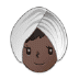 👳🏿‍♀️ woman wearing turban: dark skin tone Emoji on Samsung Platform