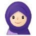 🧕🏻 woman with headscarf: light skin tone Emoji on Samsung Platform