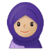 🧕🏼 woman with headscarf: medium-light skin tone Emoji on Samsung Platform