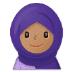 🧕🏽 woman with headscarf: medium skin tone Emoji on Samsung Platform