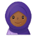 🧕🏾 woman with headscarf: medium-dark skin tone Emoji on Samsung Platform