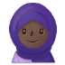 🧕🏿 woman with headscarf: dark skin tone Emoji on Samsung Platform