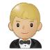 🤵🏼 man in tuxedo: medium-light skin tone Emoji on Samsung Platform
