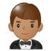 🤵🏽 man in tuxedo: medium skin tone Emoji on Samsung Platform