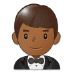 🤵🏾 man in tuxedo: medium-dark skin tone Emoji on Samsung Platform