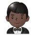 🤵🏿 man in tuxedo: dark skin tone Emoji on Samsung Platform
