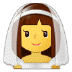 👰 bride with veil Emoji on Samsung Platform