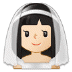 👰🏻 Light Skin Tone Bride With Veil Emoji on Samsung Platform