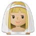 👰🏼 bride with veil: medium-light skin tone Emoji on Samsung Platform