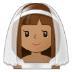 👰🏽 bride with veil: medium skin tone Emoji on Samsung Platform