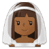 👰🏾 bride with veil: medium-dark skin tone Emoji on Samsung Platform