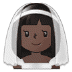 👰🏿 bride with veil: dark skin tone Emoji on Samsung Platform