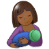 🤱🏾 breast-feeding: medium-dark skin tone Emoji on Samsung Platform