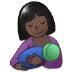 🤱🏿 Dark Skin Tone Woman Breast Feeding Emoji on Samsung Platform
