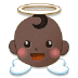 👼🏿 baby angel: dark skin tone Emoji on Samsung Platform