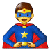 🦸 superhero Emoji on Samsung Platform