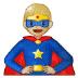 🦸🏼 superhero: medium-light skin tone Emoji on Samsung Platform