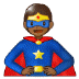 🦸🏾 superhero: medium-dark skin tone Emoji on Samsung Platform