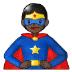 🦸🏿 superhero: dark skin tone Emoji on Samsung Platform
