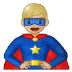 🦸🏼‍♂️ man superhero: medium-light skin tone Emoji on Samsung Platform