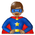🦸🏽♂️ man superhero: medium skin tone Emoji on Samsung Platform