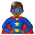 🦸🏾♂️ man superhero: medium-dark skin tone Emoji on Samsung Platform
