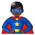 🦸🏿♂️ man superhero: dark skin tone Emoji on Samsung Platform