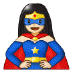 🦸🏻‍♀️ woman superhero: light skin tone Emoji on Samsung Platform