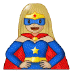 🦸🏼♀️ woman superhero: medium-light skin tone Emoji on Samsung Platform