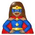🦸🏽♀️ woman superhero: medium skin tone Emoji on Samsung Platform
