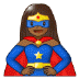 🦸🏾‍♀️ woman superhero: medium-dark skin tone Emoji on Samsung Platform