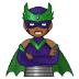 🦹🏾 supervillain: medium-dark skin tone Emoji on Samsung Platform