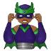 🦹🏾♂️ man supervillain: medium-dark skin tone Emoji on Samsung Platform