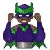 🦹🏿♂️ man supervillain: dark skin tone Emoji on Samsung Platform
